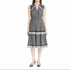 Kate Spade Plains Ditzy Midi Dress